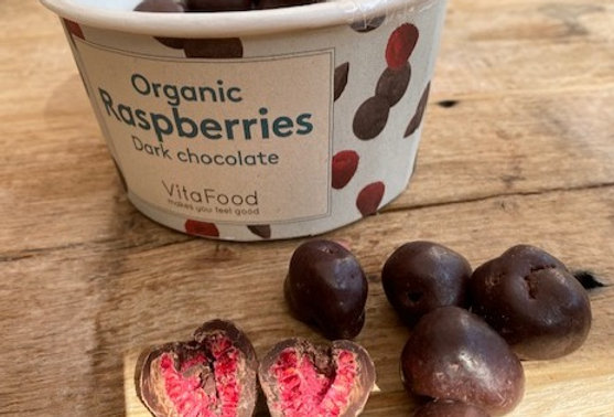 Pure chocolade frambozen Vitafood bio (150 gr)