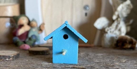 Vogelhuisje blauw droomdeurtjes