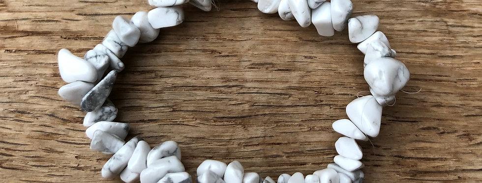 Armband witte Howliet (kind vanaf +/- 8 jr)