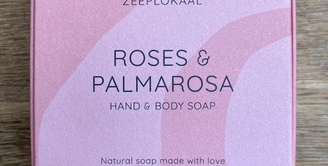 Rozen & Palmarosa zeep (handgemaakt) 't Zeeplokaal (min. 130 gr)