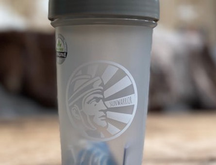 Shakebeker grijs Sunwarrior (600 ml)