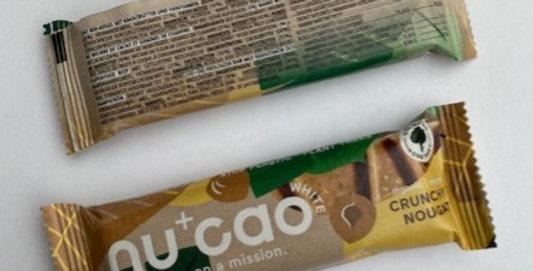 NuCao crunchy nougat reep 40 gr bio
