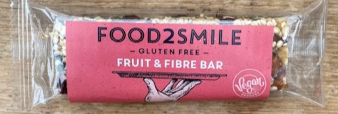 Fruit & fibre bar Food 2 smile GLUTENVRIJ! (40 gr)