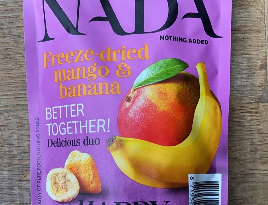 Gevriesdroogd fruit mango/banaan NADA