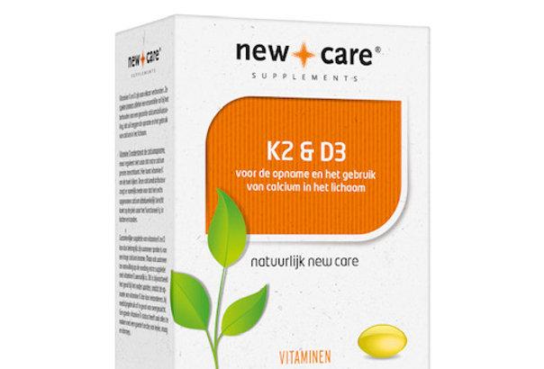 K2 & D3 60 capsules New Care