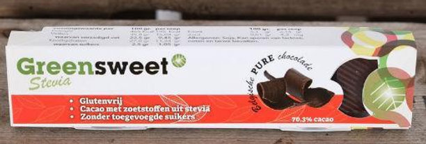 Greensweet pure chocoladereep 42 gr
