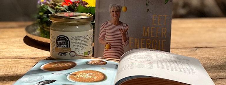 """Kokosolie + """"eet meer energie met kokosolie"""""""
