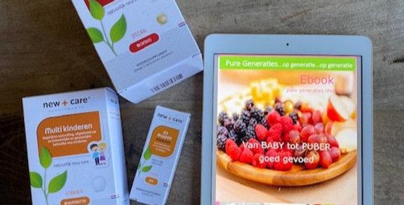 """E-book """"Van baby tot puber goed gevoed"""" + kinder-supplementen pakket!"""