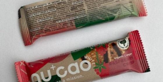 NuCao white raspberry crisp reep 40 gr bio