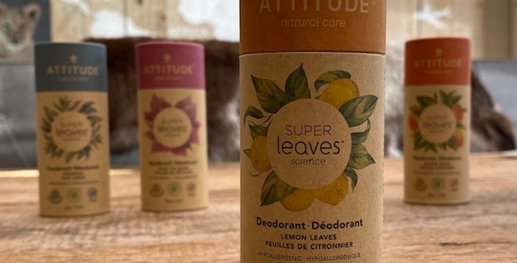 Natuurlijke deodorant Attitude/Leaves lemon leaves (85 gr)
