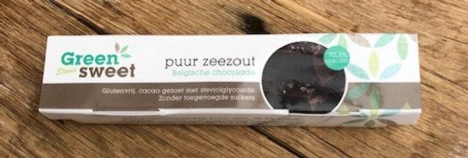 Greensweet chocoladereep PUUR met zeezout 42 gr