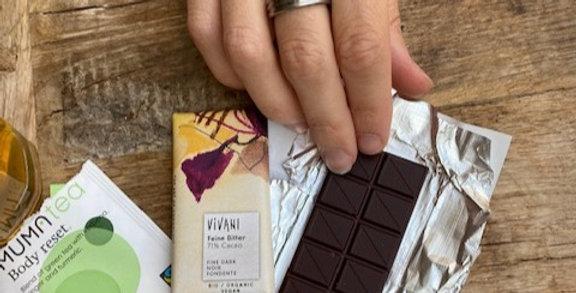 Mini chocoladereep puur Vivani (12,5 gr)
