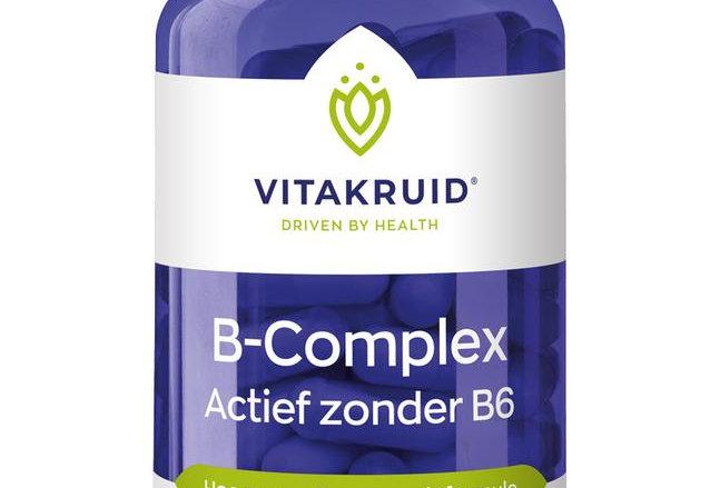 B-Complex Actief zonder B6 Vitakruid (100 vegan capsules)