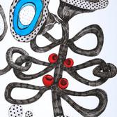 Botanical Scenes, sheet 61 24th January 2021 Ink, watercolour, fineliner, perforation on paper 148 x 210 mm  Botanische Szenen, Blatt 61 24. Januar 2021 Tusche, Aquarellfarbe, Fineliner, Perforation auf Papier 148 x 210 mm
