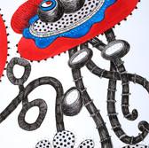 Botanical Scenes, sheet 57 20th January 2021 Ink, watercolour, fineliner, perforation on paper 148 x 210 mm  Botanische Szenen, Blatt 57 20. Januar 2021 Tusche, Aquarellfarbe, Fineliner, Perforation auf Papier 148 x 210 mm