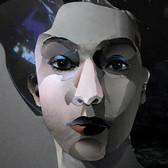 Ohne Titel/ Untitled IV (Kopfstudie/ head study) 29,7 x 21 cm, Collage, 2021