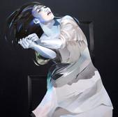 Tanz/ Dance XIV,  81 x 70 cm, Collage,  2021  (nach einem Foto der Tänzerin Tsai Wei Tien)