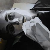 Melancholie/ melancholie IV 48,7 x 65 cm, Collage, 2018