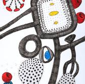 Botanical Scenes, sheet 69 1st February 2021 Ink, watercolour, fineliner, perforation on paper 148 x 210 mm  Botanische Szenen, Blatt 69 1. Februar 2021 Tusche, Aquarellfarbe, Fineliner, Perforation auf Papier 148 x 210 mm