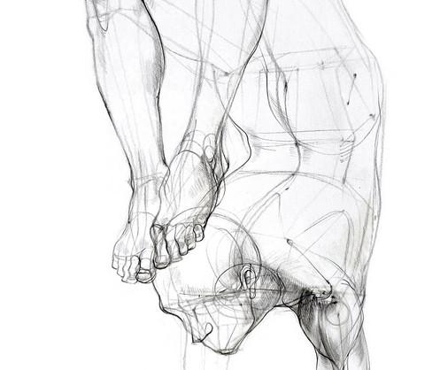 Vrschikasana - 2017,  Pencil on paper, 21 x 29 cm