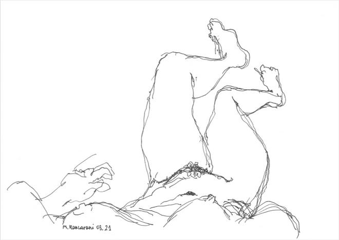 Untitled -5, 2021 Pen on paper sketch 32 x 24 cm