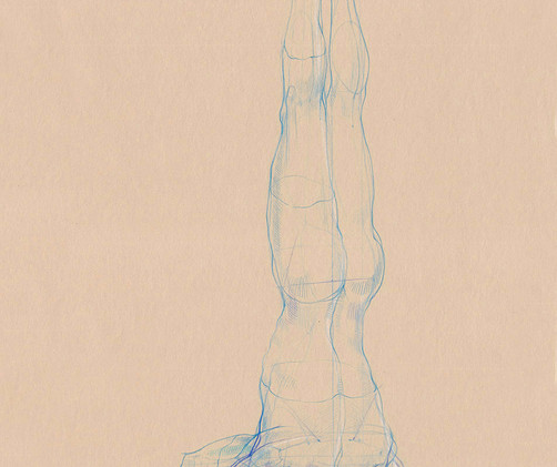 Mukta Hasta Sirsasana - 2019, Pencil on paper, 21 x 29,7 cm