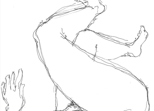 Untitled -4, 2021 Pen on paper sketch 32 x 24 cm