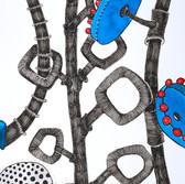 Botanical Scenes, sheet 67 30th January 2021 Ink, watercolour, fineliner, perforation on paper 148 x 210 mm  Botanische Szenen, Blatt 67 30. Januar 2021 Tusche, Aquarellfarbe, Fineliner, Perforation auf Papier 148 x 210 mm