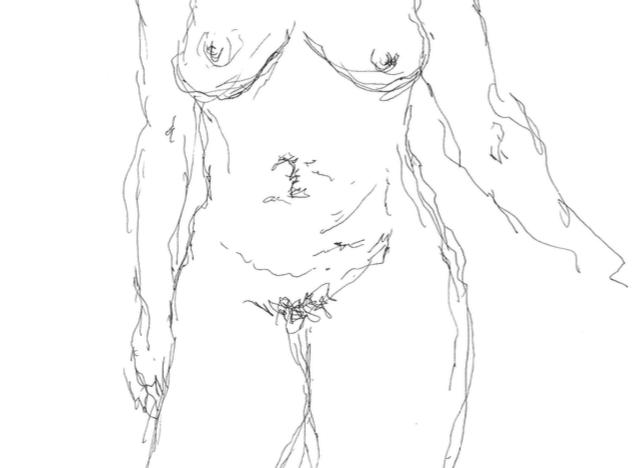 Untitled -1, 2021 Pen on paper sketch 32 x 24 cm
