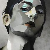 Ohne Titel/ Untitled III (Kopfstudie/ head study) 29,8 x21,02 cm, Collage, 2021