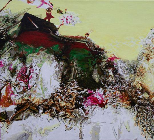 Lido ( 2014, Acryl auf Leinwand, 50 x 52