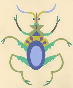 green coleoptera