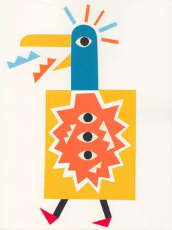 3-eyes bird