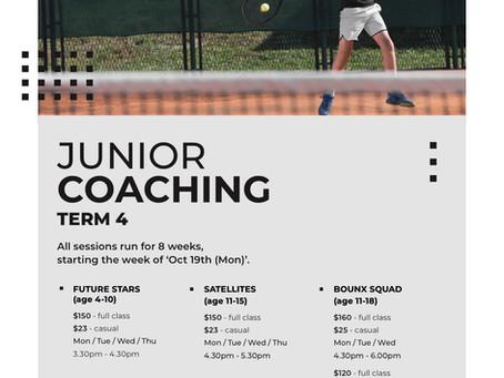 Term 4 Coaching