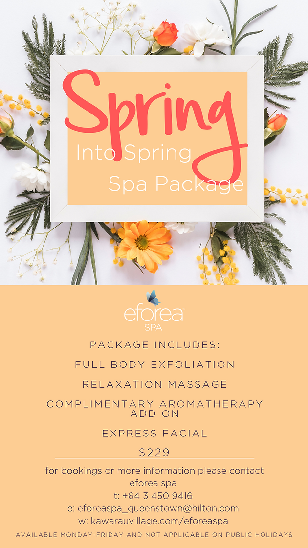 Christmas Spa Packages.Spring Into Spring Spa Package