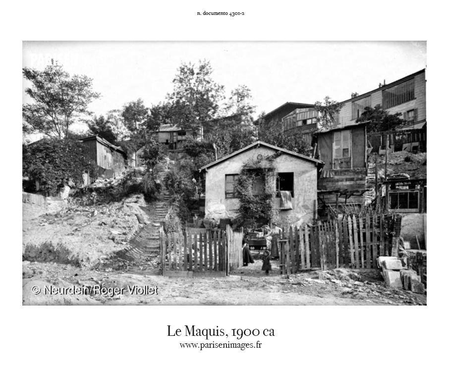 Le maquis Montmartre 1900