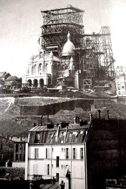 Le Sacre Coeur en construction 1895