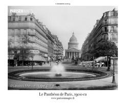 La rue Soufflot en direction du Pantheon