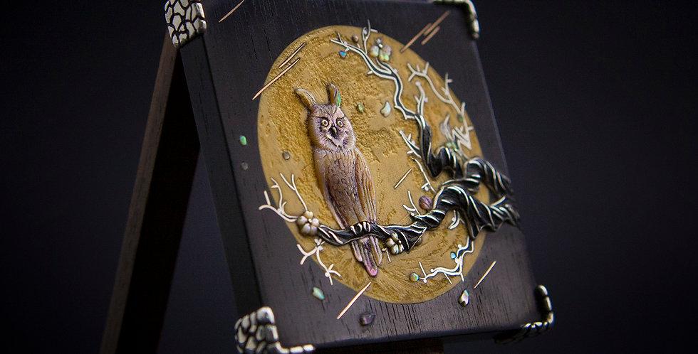 Яркое ювелирное украшение-трансформер с совой / Owl Jewelry,art pendant&bolo-tie