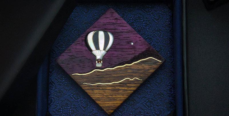 Модное украшение с воздушным шаром, ювелирный кулон / Inlaid PurpleHeart pendant