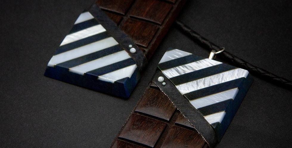 Необычные яркие украшения-шоколадки / Bright wooden Chocolate Earrings-Pendants