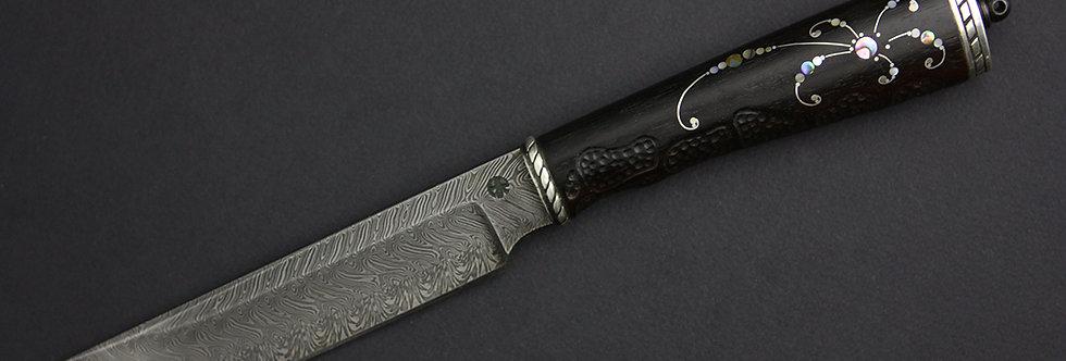 6. Коллекционный нож. Модель А-02. Дамассковый клинок Данилов (Самурай)