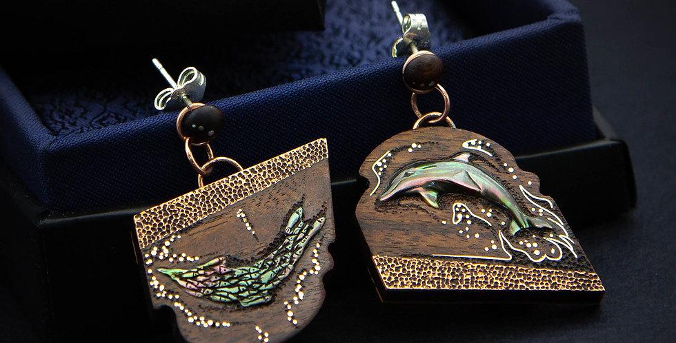 Украшения 3 в 1 с миниатюрами из перламутра / Inlaid jewelry, pearl miniatures