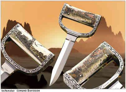 Нож / Эдмунд Дэвидсон / Edmund Davidson Push Dagger /  USA