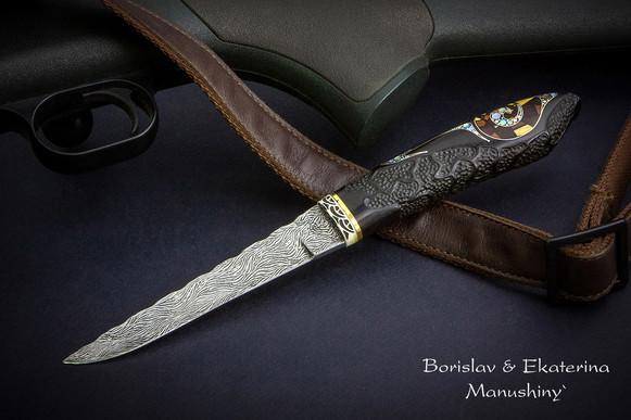 Нож с инкрустацией в стиле модерн