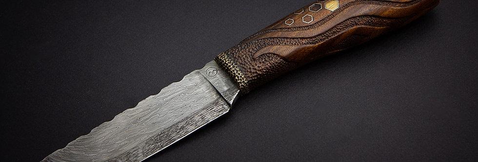Крутой подарок пчеловоду)) Нож с инкрустацией / Cool creative inlaid knife