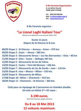 Présentation Lionel Italiani LaghiTour 2