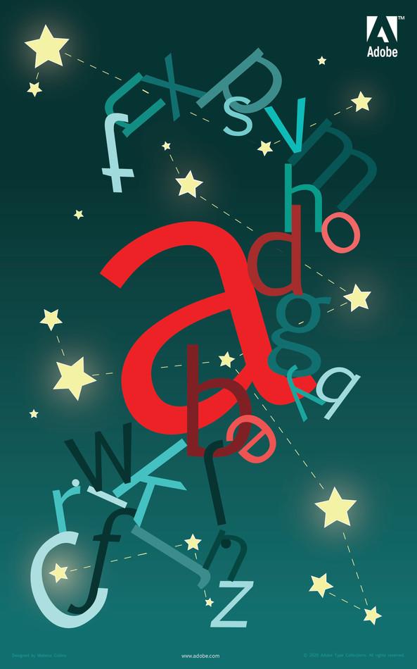 Adobe Type Foldable: Interior Poster