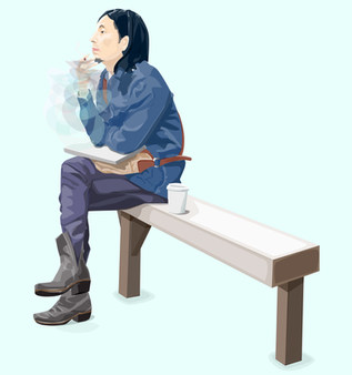 guy smoking on bench (blue).jpg
