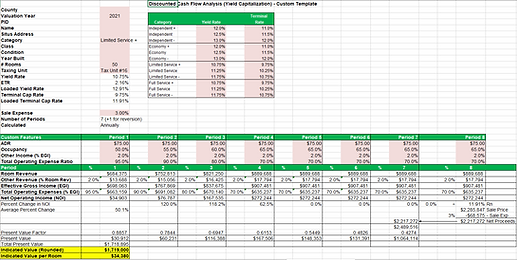 TEAM Hotel Valuation DCF Excel Template